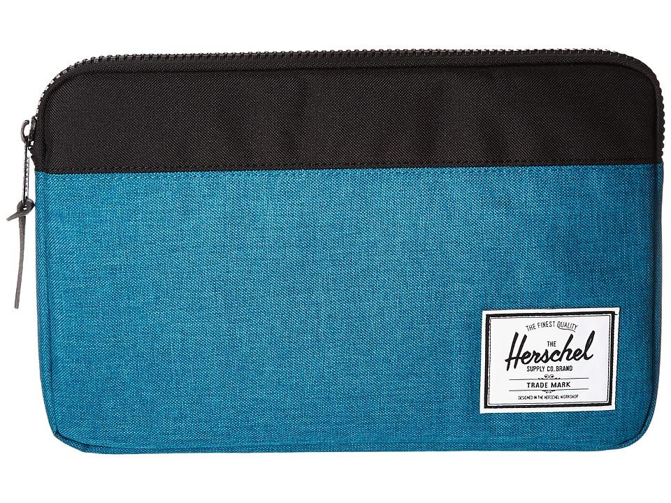 Herschel Supply Co. - Anchor Sleeve 11 (Petrol Crosshatch/Black) Computer Bags