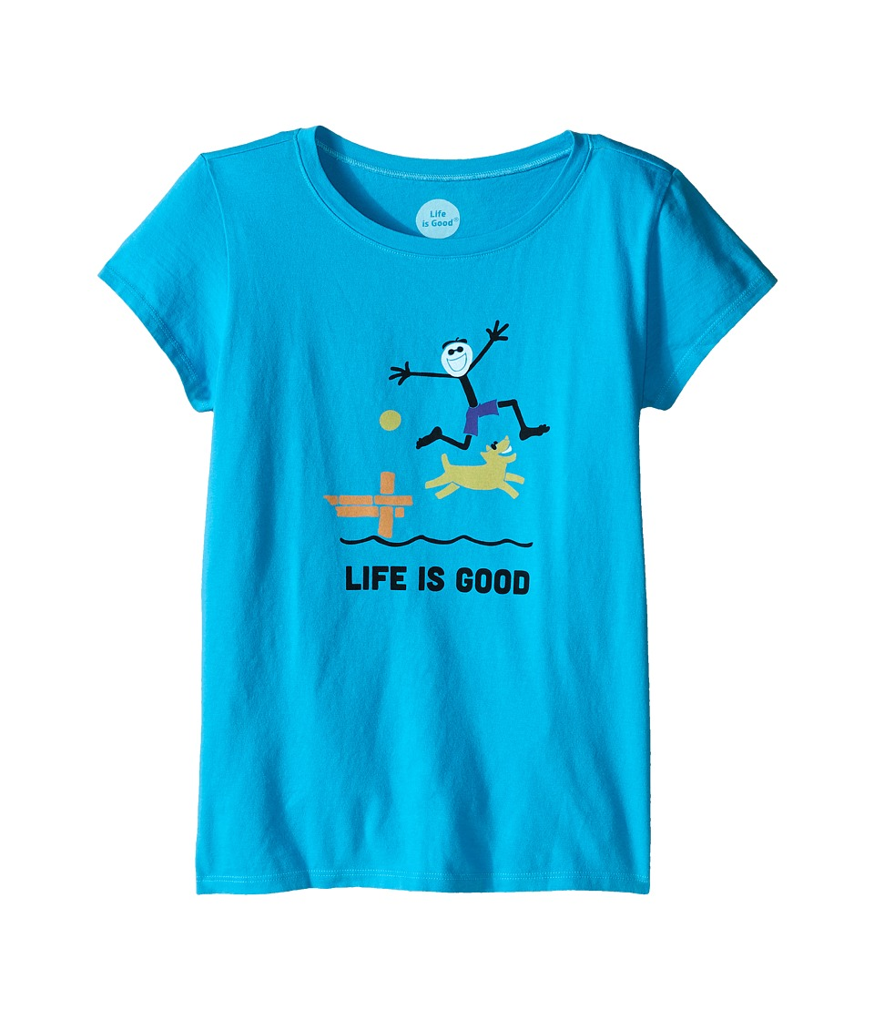 Life is good Kids Elemental Dock Crusher Tee Little Kids/Big Kids Bright Blue Girls T Shirt