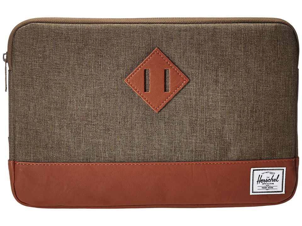 Herschel Supply Co. - Heritage Sleeve for 11inch Macbook (Canteen Crosshatch/Tan Synthetic Leather) Computer Bags