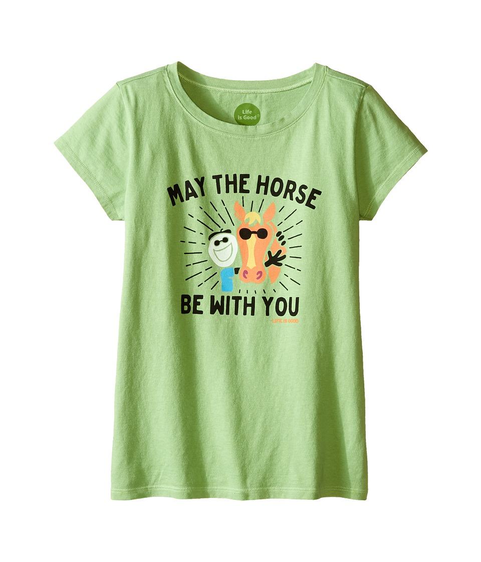 Life is good Kids Elemental Mane Crusher Tee Little Kids/Big Kids Fern Green Girls T Shirt