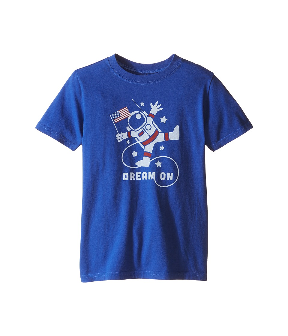 Life is good Kids - Astronaut Dream Crusher Tee (Little Kids/Big Kids) (Cobalt Blue) Boy