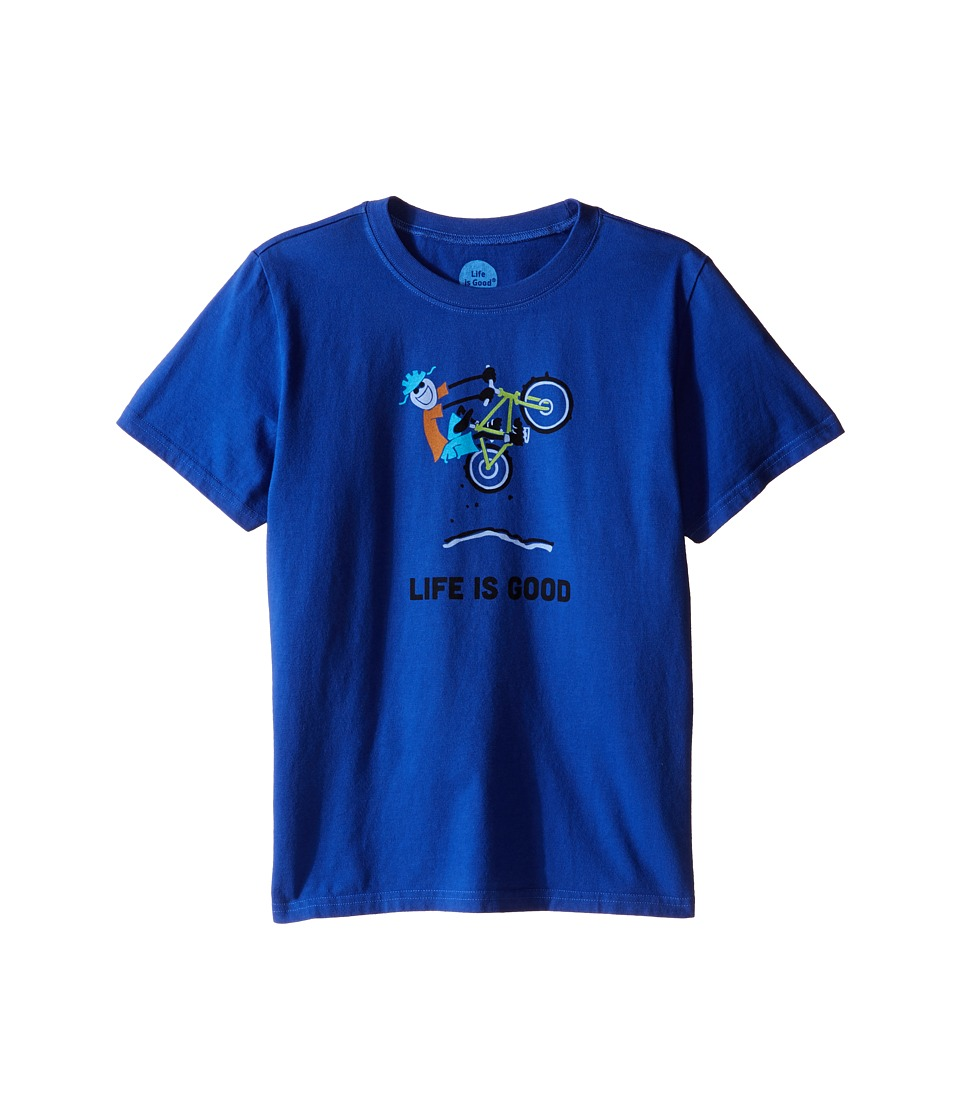 Life is good Kids - Elemental Air Time Crusher Tee (Little Kids/Big Kids) (Cobalt Blue) Boy