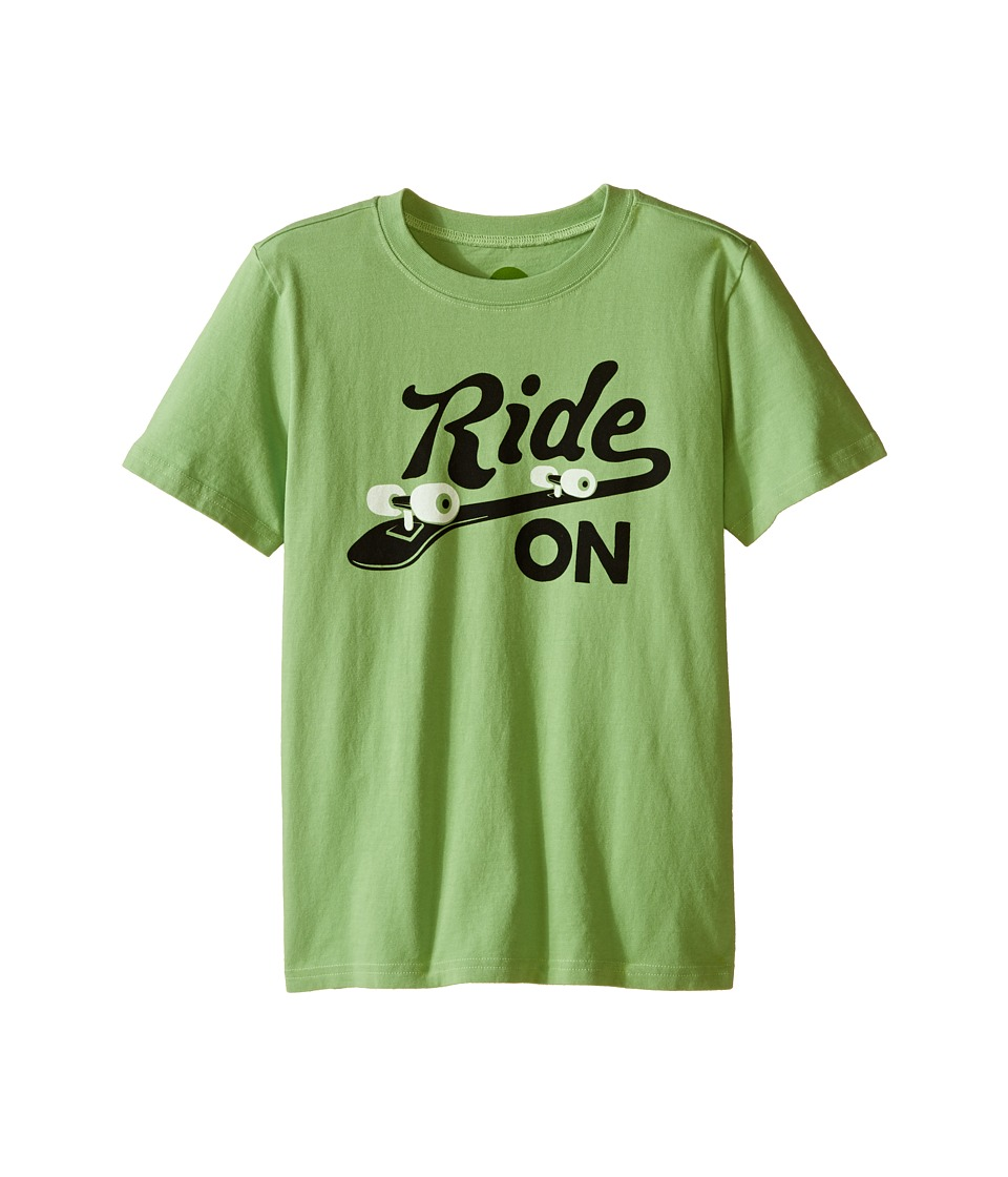 Life is good Kids - Enjoy Ride Skateboard Crusher Tee (Little Kids/Big Kids) (Fern Green) Boy