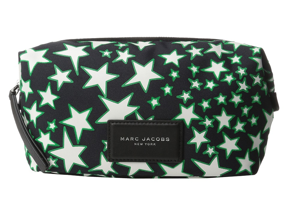 Marc Jacobs - Flocked Stars Printed Biker Large Landscape Pouch (Black Multi) Cosmetic Case
