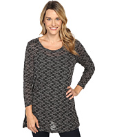 Nally & Millie - Textured Long Sleeve Tunic w/ Side Slits