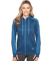 adidas - Team Issue Fleece 3 Stripes Full Zip Hoodie