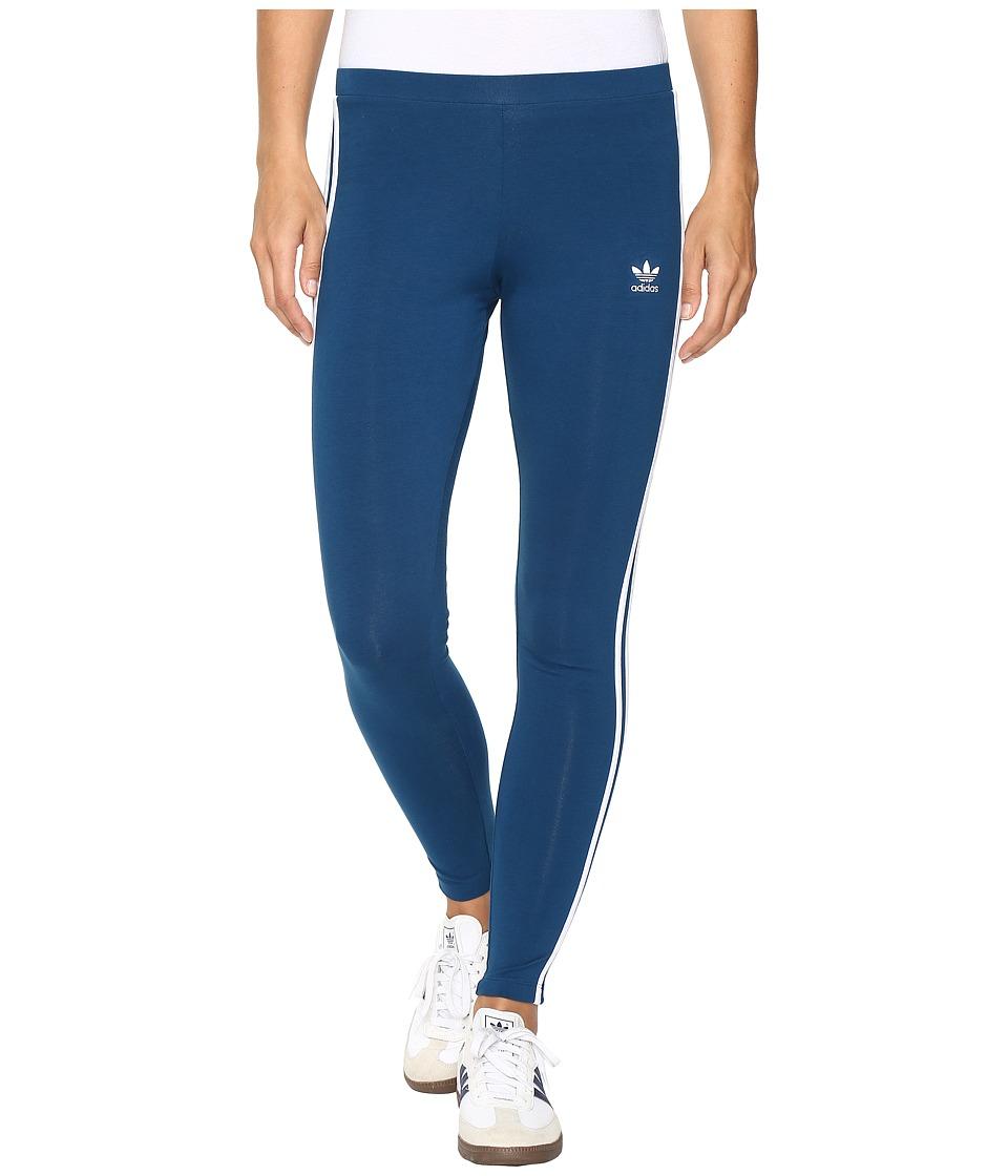 Image of adidas Originals - 3-Stripes Leggings (Tech Steel/White) Women's Casual Pants