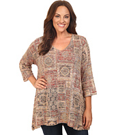 Nally & Millie - Plus Size Printed V-Neck Tunic