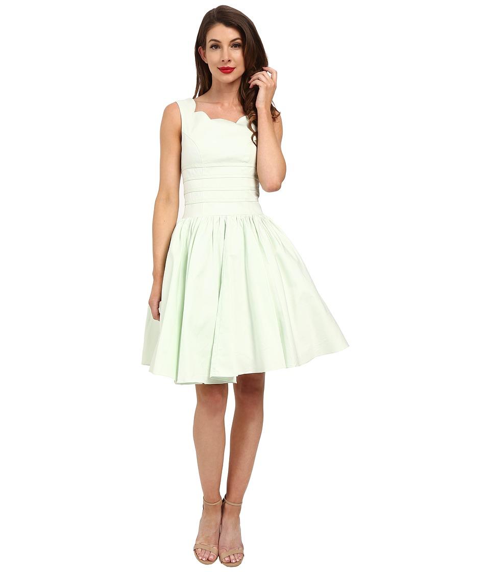 Unique Vintage Roman Holiday Brushed Cotton Swing Dress Mint Womens Dress