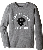 Life is good Kids - Game On Helmet Long Sleeve Tee (Little Kids/Big Kids)