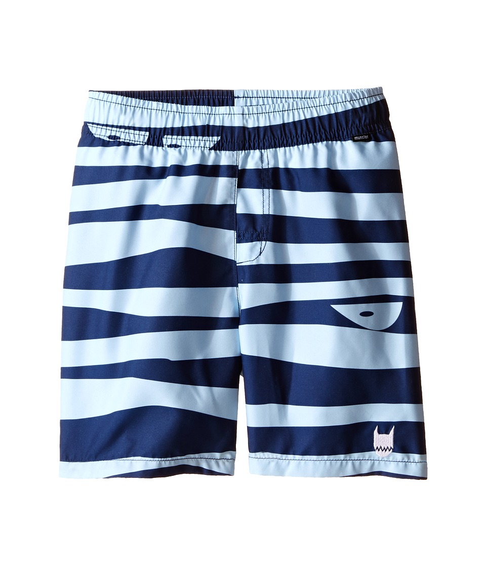 Munster Kids Choppy Boardshorts Toddler/Little Kids/Big Kids Pale Blue Boys Swimwear