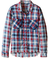 Blank NYC Kids - Plaid Shirt with Frayed Bottom in Twitterpated (Big Kids)