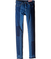 Blank NYC Kids - Denim Patchwork/Denim Color Block Skinny Jeans in Youth In Trouble (Big Kids)