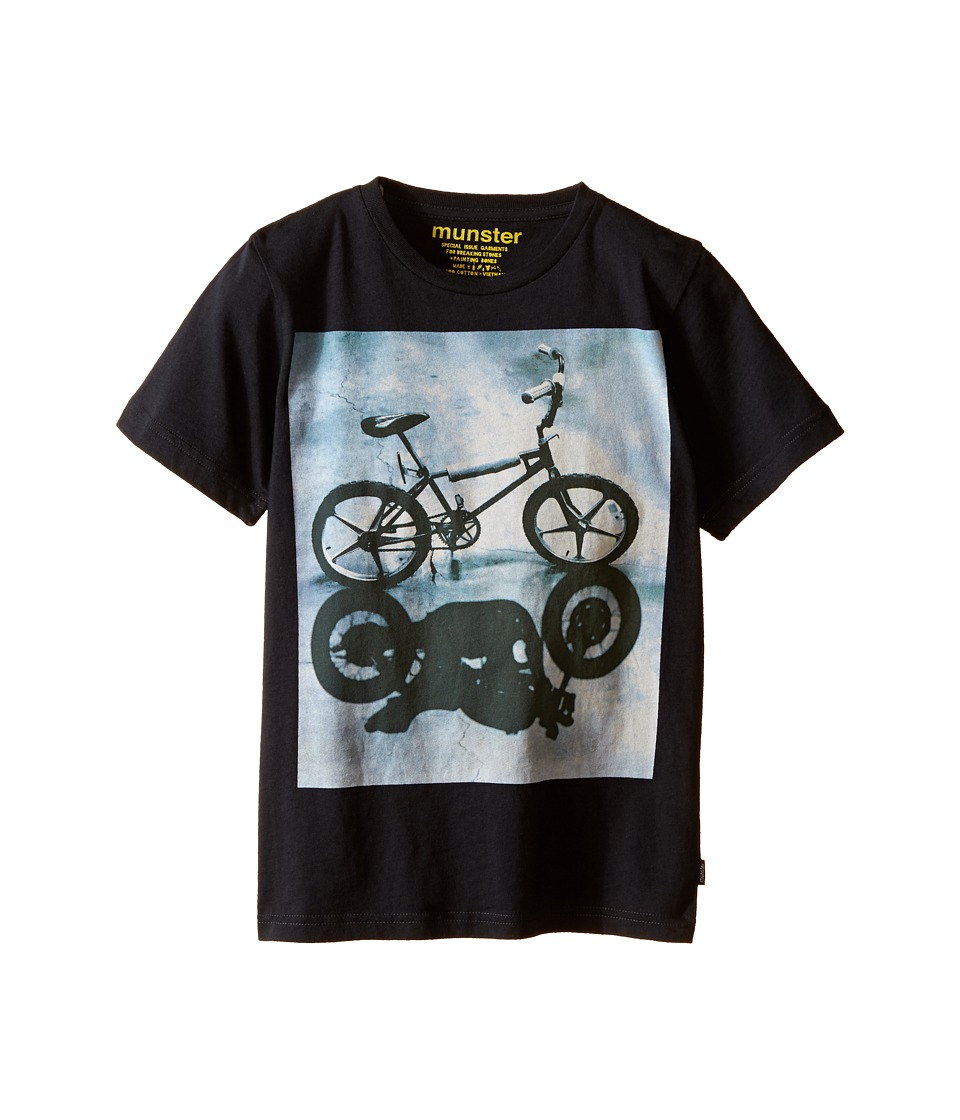 Munster Kids Bike Shadow Tee Toddler/Little Kids/Big Kids Soft Black Boys T Shirt