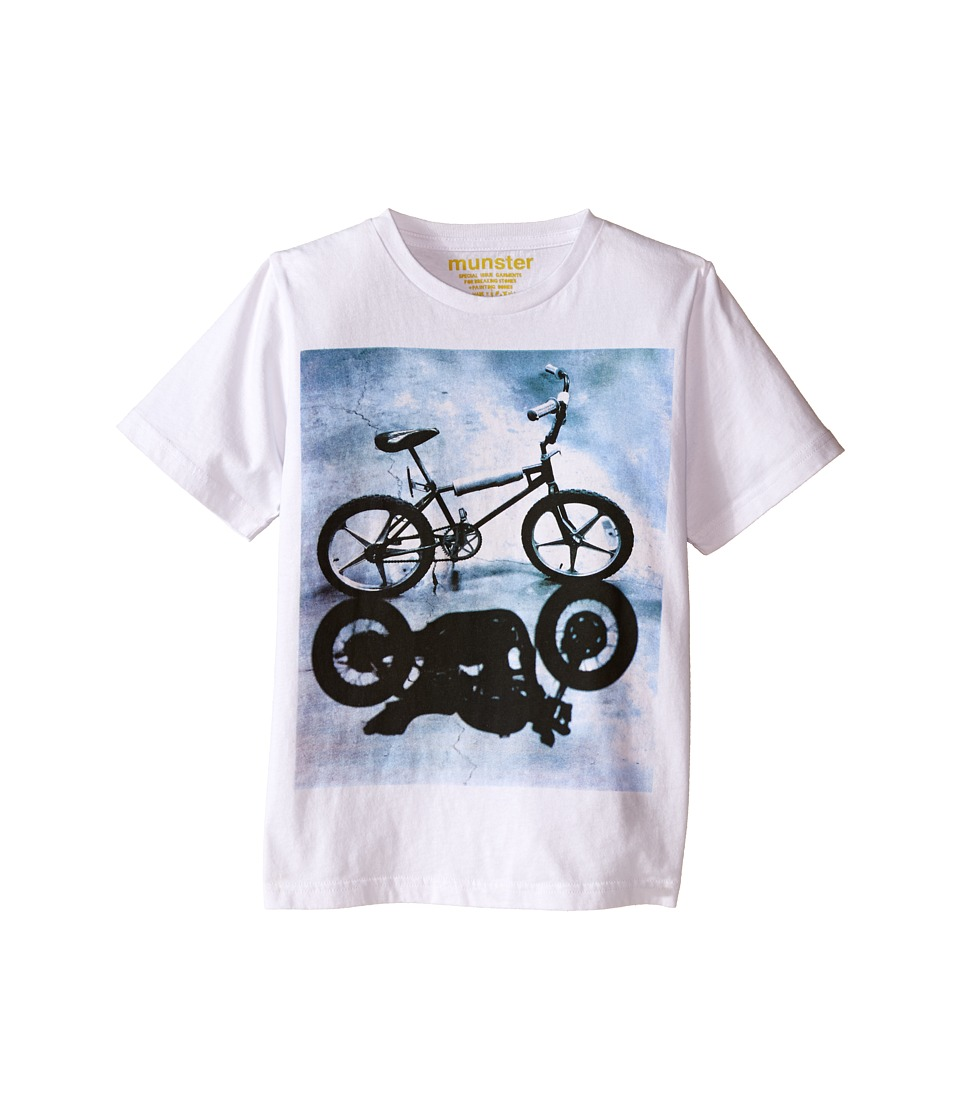 Munster Kids Bike Shadow Tee Toddler/Little Kids/Big Kids White Boys T Shirt