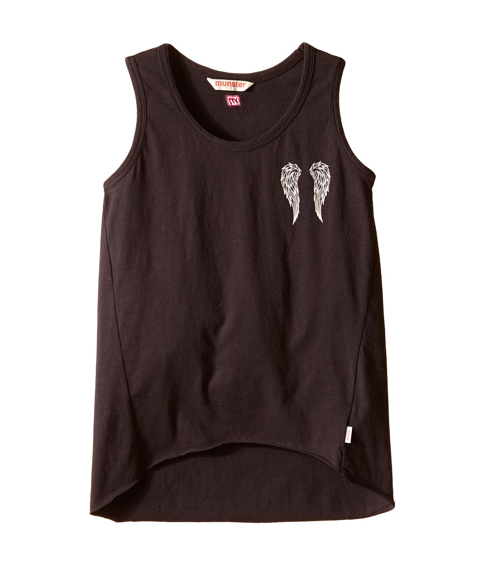 Munster Kids Angel Tank Top Toddler/Little Kids/Big Kids Vintage Black Girls Sleeveless