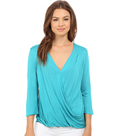 Lanston - Surplice 3/4 Sleeve Top