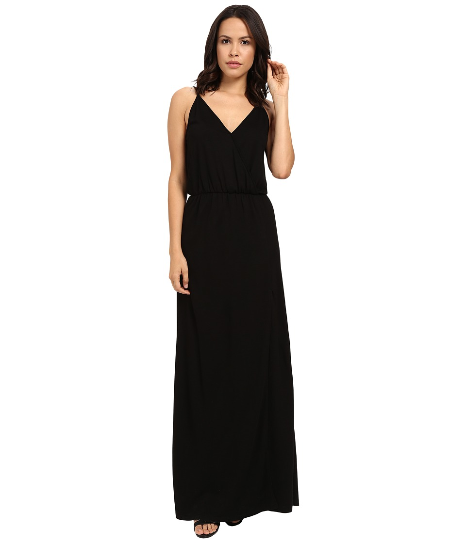 Lanston Back Bar Slit Maxi Dress Black Womens Dress