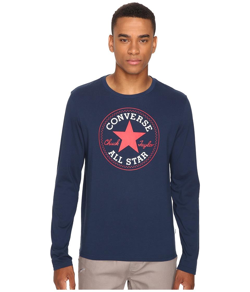 Converse - Core Long Sleeve Core Patch Tee (Nighttime Navy) Men