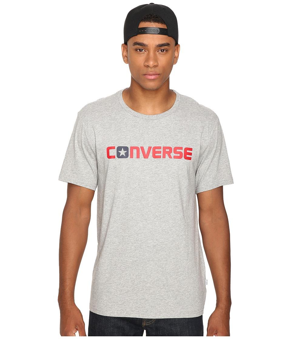 Converse Core Wordmark Tee (Vintage Grey Heather) Men
