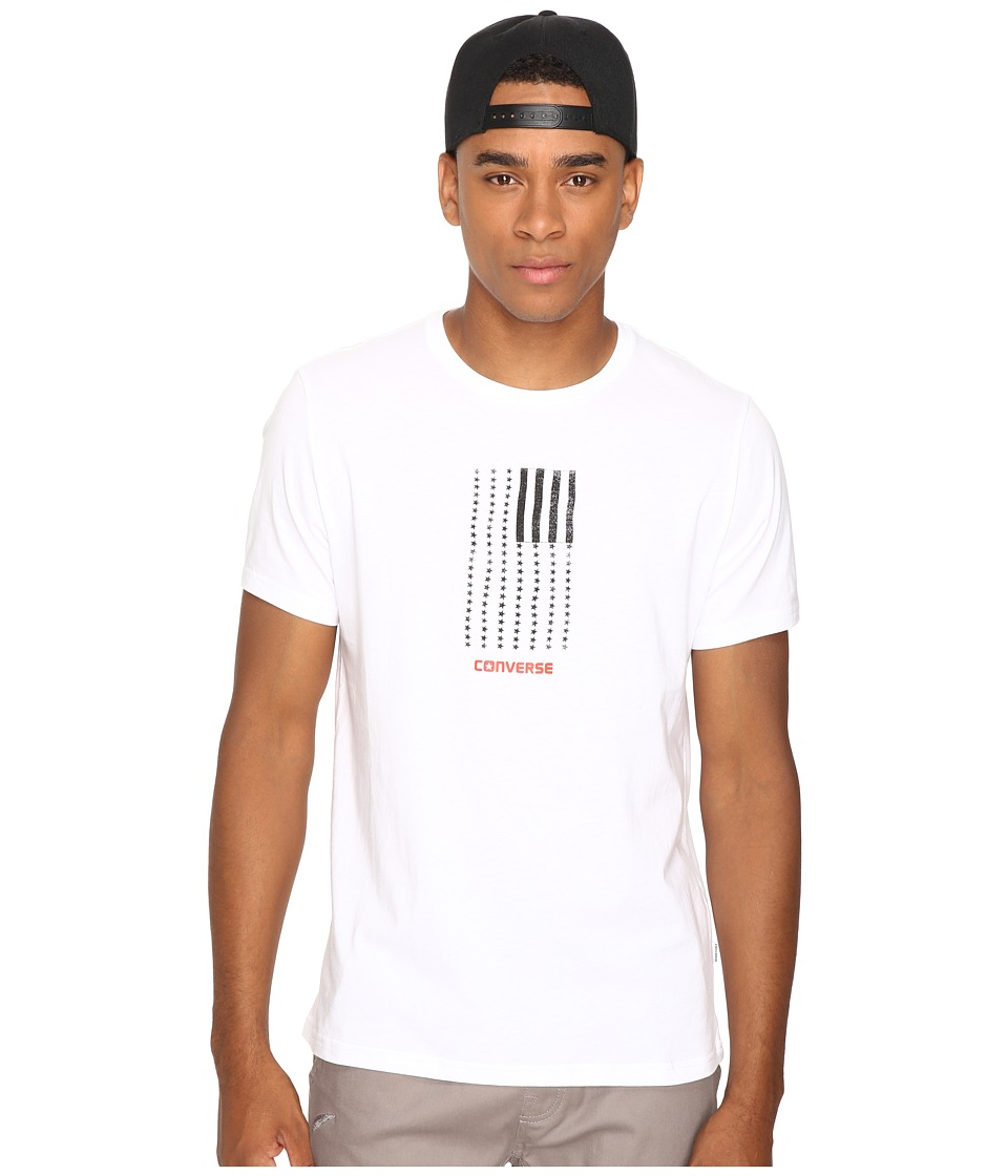 Converse - Black White Flag Short Sleeve Tee (White) Men