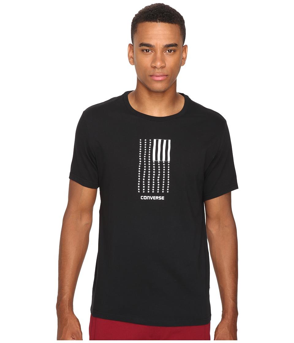 Converse - Black White Flag Short Sleeve Tee (Black) Men