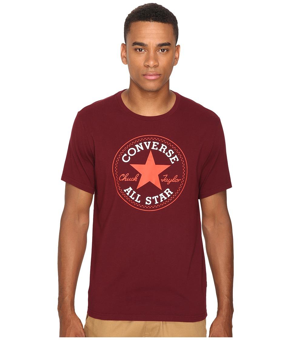 Converse - Core Short Sleeve Core Patch Tee (Deep Bordeaux) Men