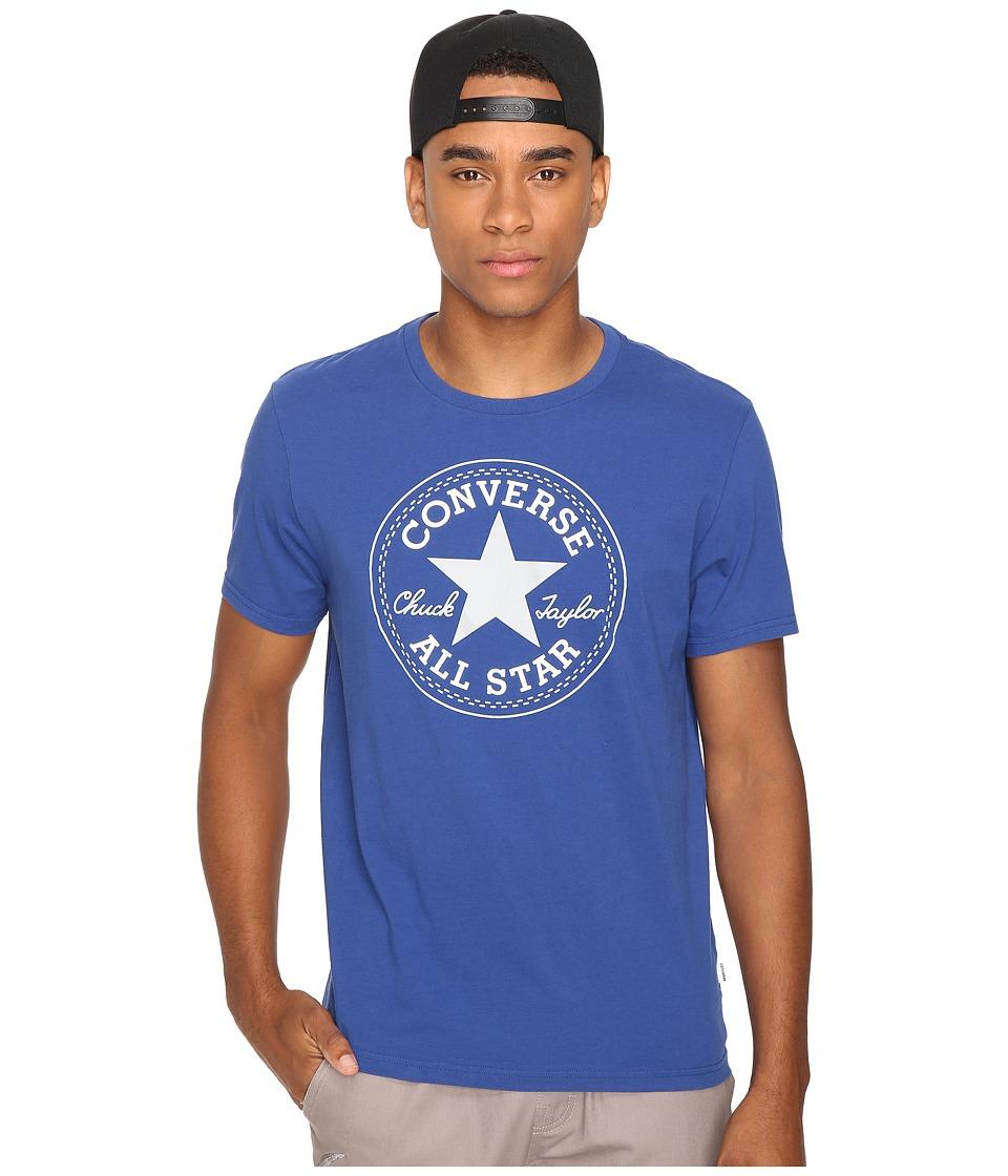 Converse - Core Short Sleeve Core Patch Tee (Roadtrip Blue) Men
