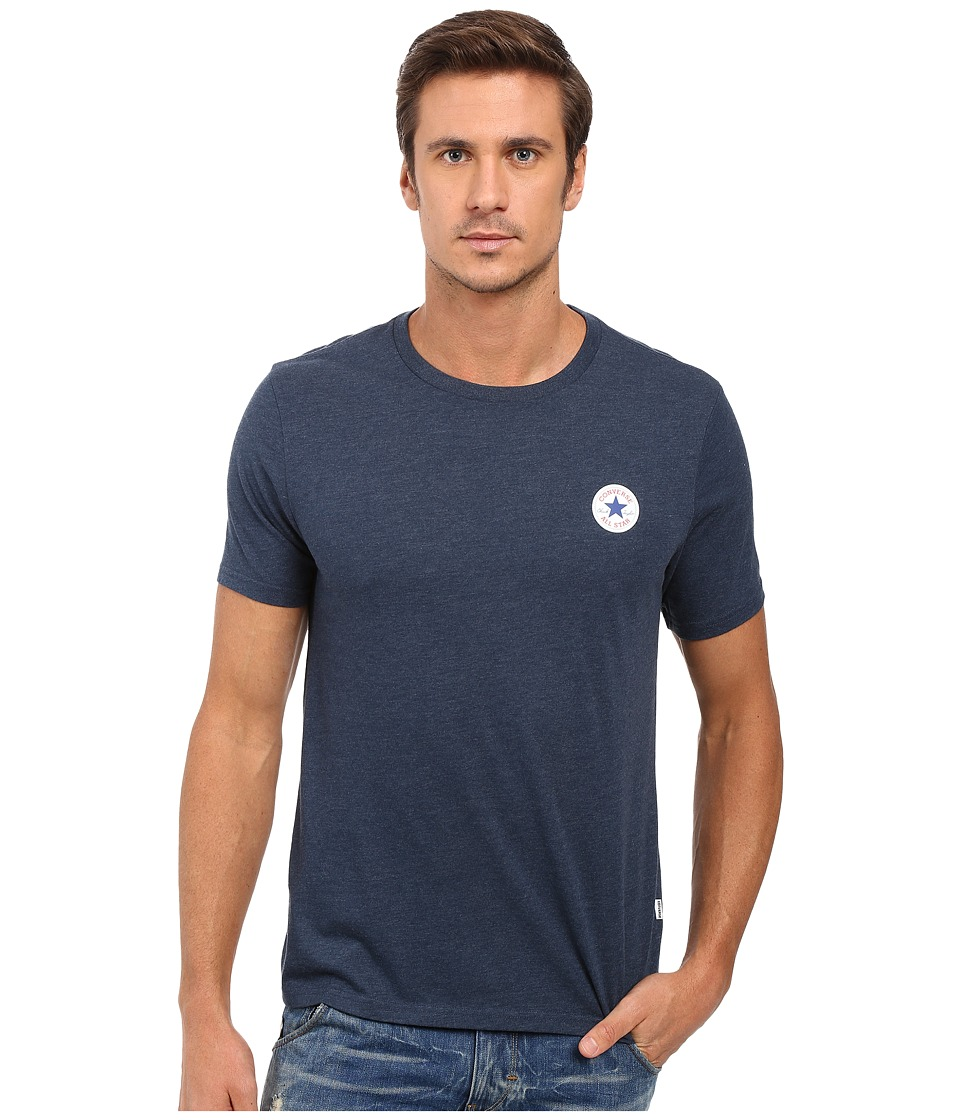 Converse Core Left Chest Core Patch Short Sleeve Crew Tee (Nighttime Navy) Men