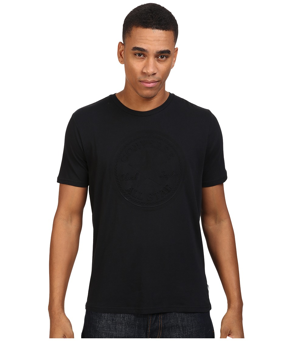 Converse Embossed Short Sleeve Core Patch Crew Tee (Black) Men