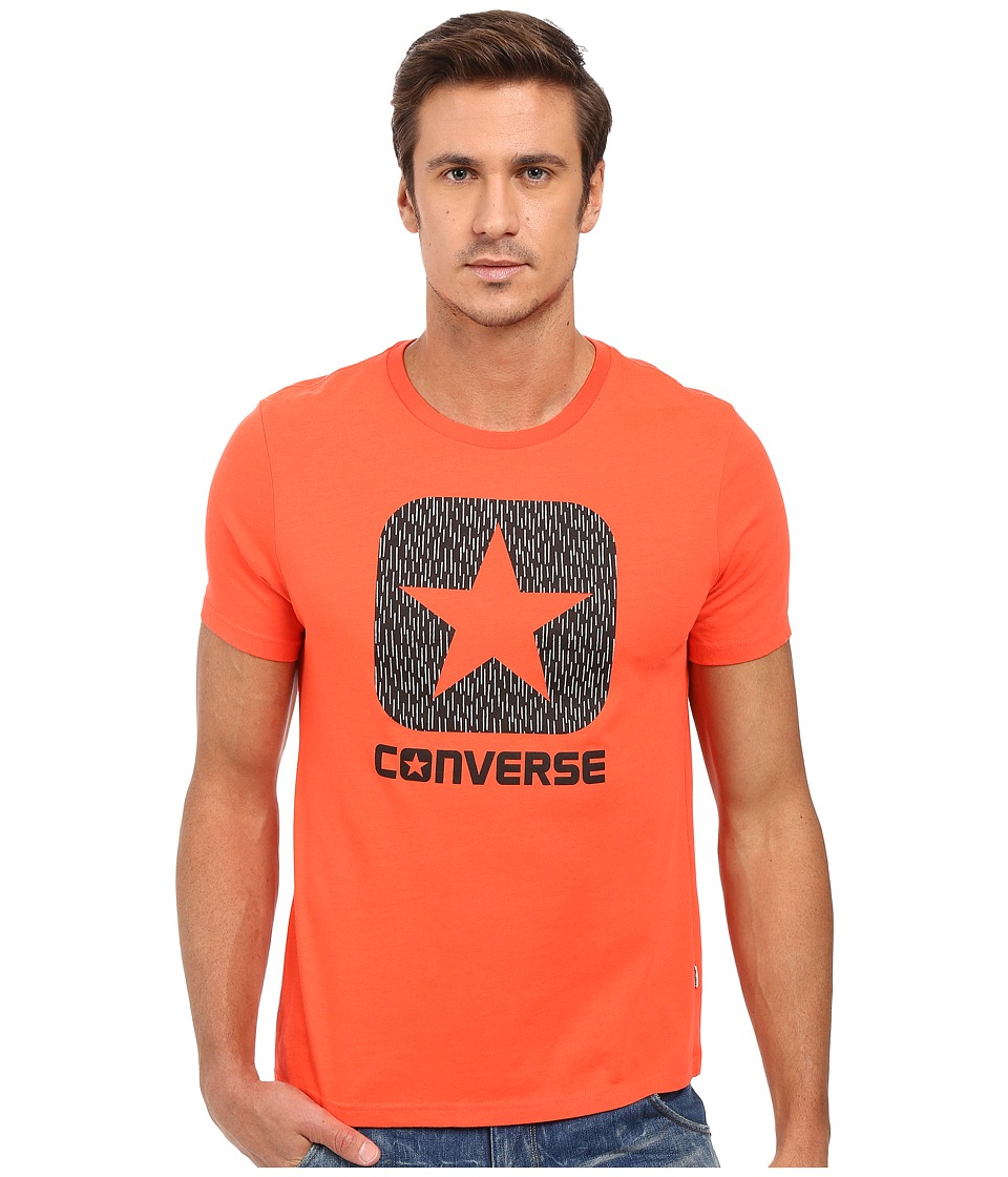 Converse - Reflective Rain Box Star Tee (Lava) Men