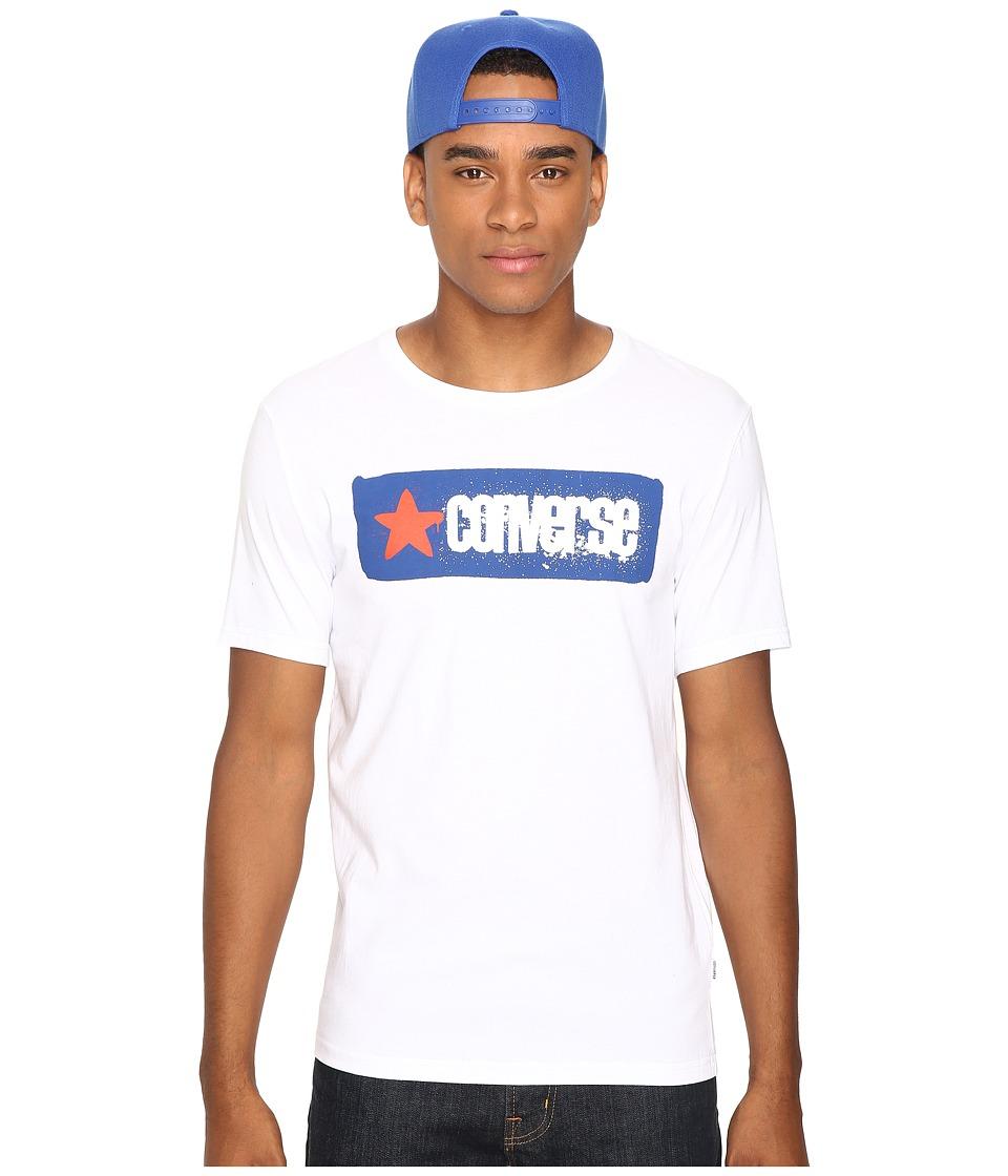 Converse - Stencil Wordmark Short Sleeve Tee (White) Men