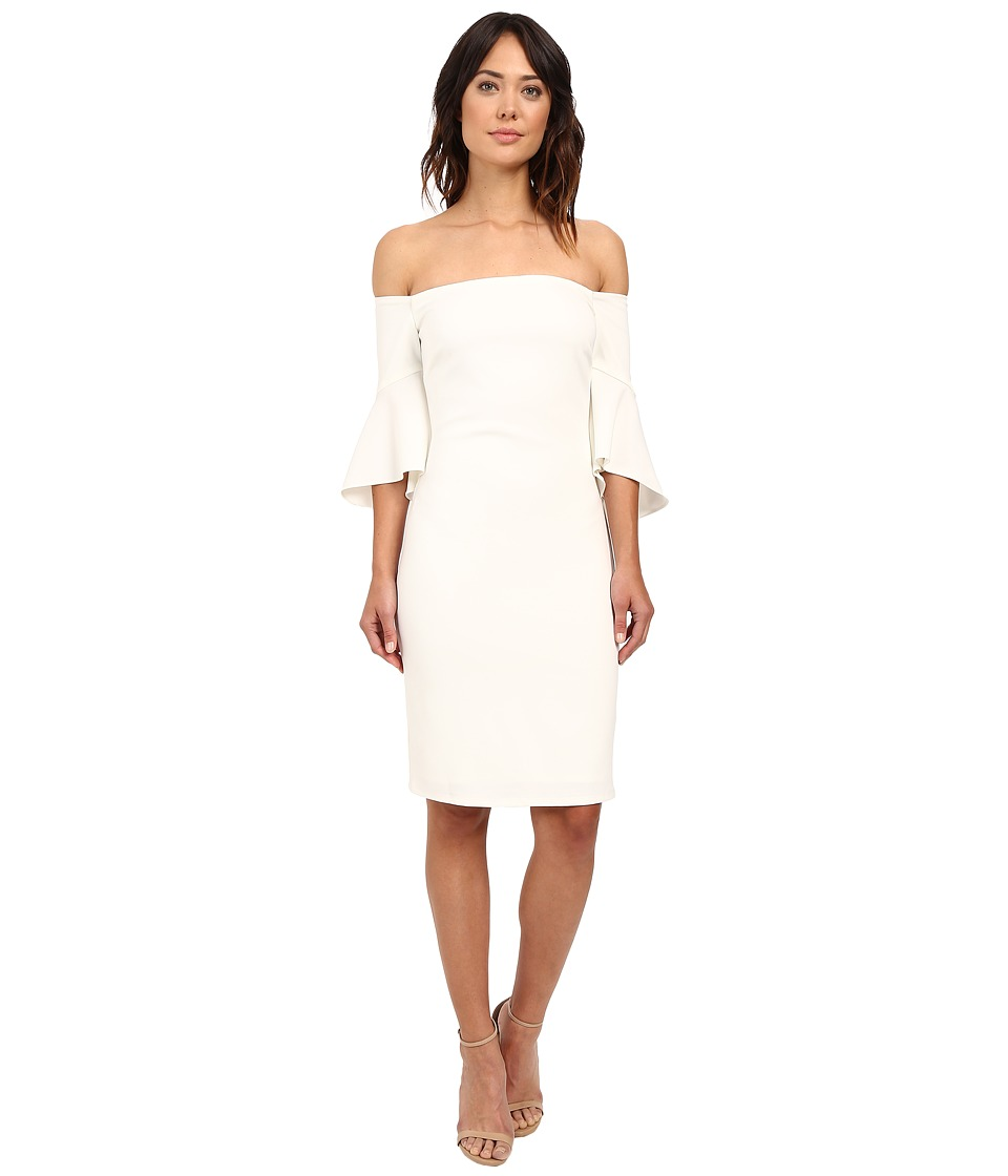 Laundry by Shelli Segal - Montreal Stretch Crepe Off the Shoulder Cocktail