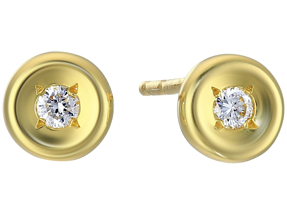 Roberto Coin - Tiny Treasures 18K Earrings with Diamonds (Yellow Gold) Earring