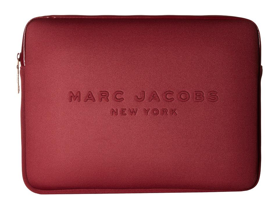 Marc Jacobs - Neoprene Tech 13 Computer Case (Dark Cherry) Computer Bags