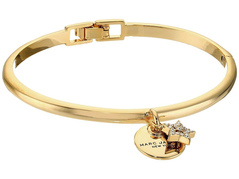 Marc Jacobs - MJ Coin Hinge Cuff Bracelet (Crystal/Gold) Bracelet