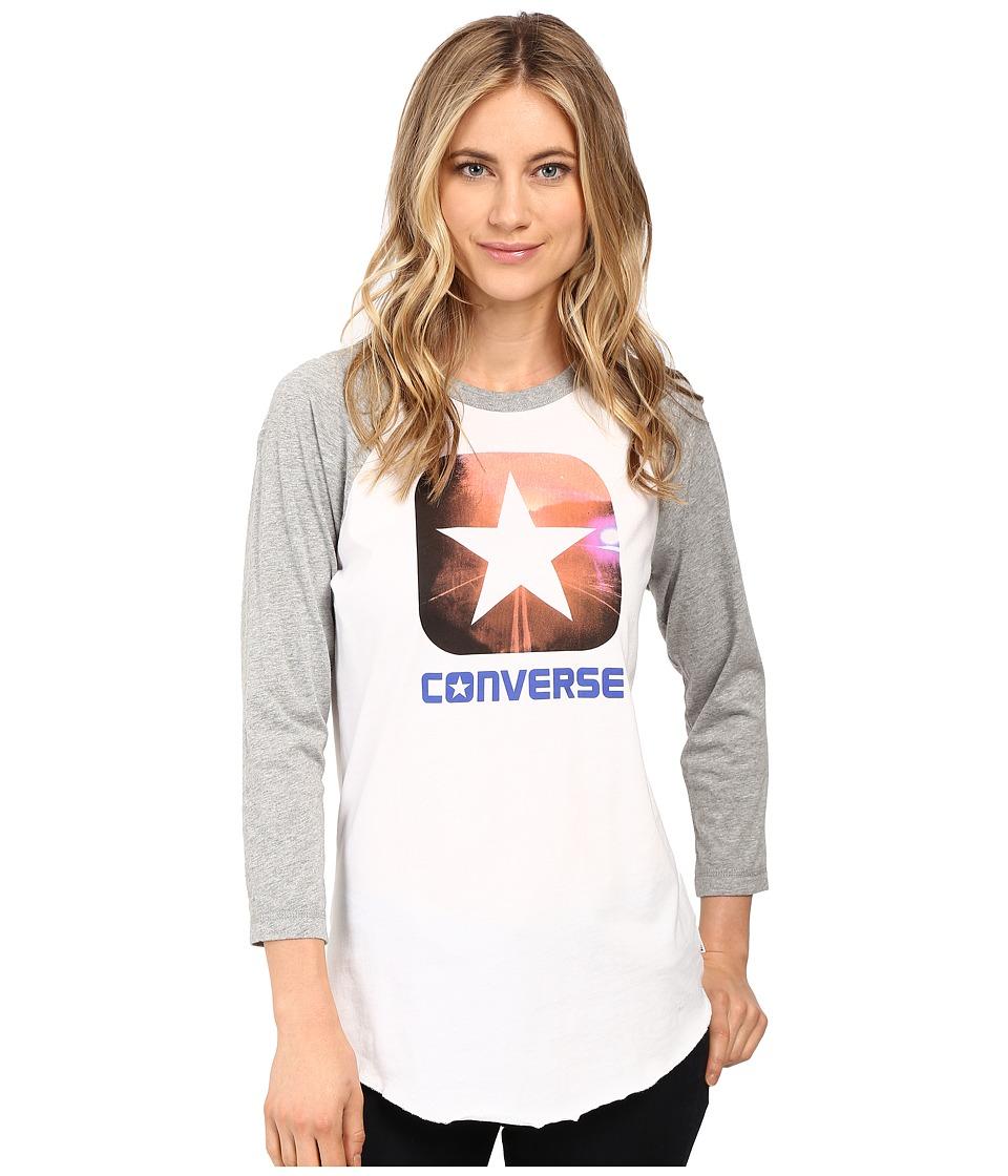 Converse Box Star Photo Raglan Tee (White) Women