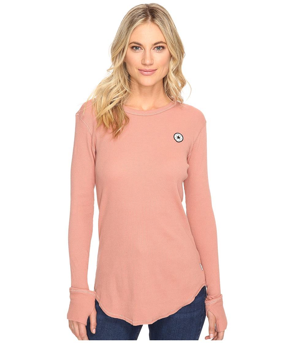 Converse Thermal Thumbhole Long Sleeve Tee (Pink Blush) Women