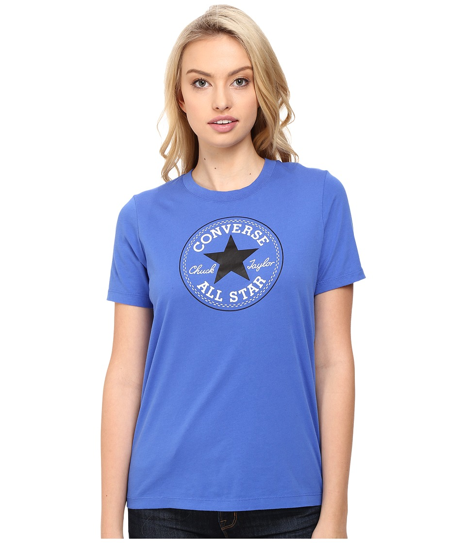 Converse - Core Solid Short Sleeve Core Patch Crew Tee (Oxygen Blue) Women