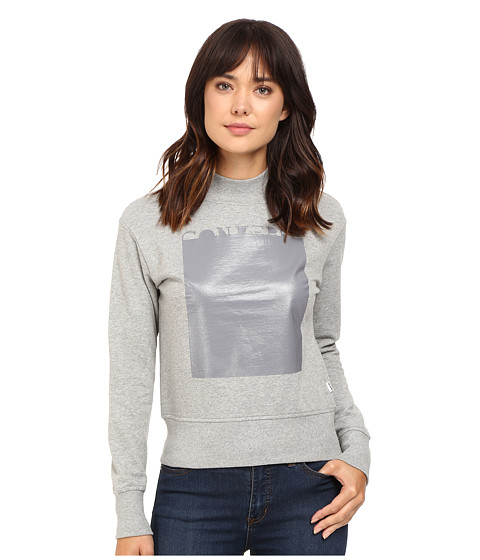 Converse Rubber Mock Neck Fleece Top