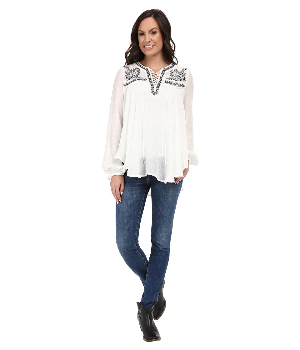 Union of Angels Belle Tunic White Womens Blouse