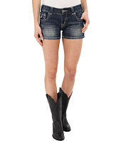 Rock and Roll Cowgirl - Denim Shorts in Dark Vintage
