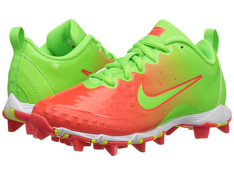 Nike Kids Hyperdiamond 2 Keystone GG Baseball (Toddler/Little Kid/Big Kid) - Electric Green/Bright Crimson/Bright Mango/Electris Green