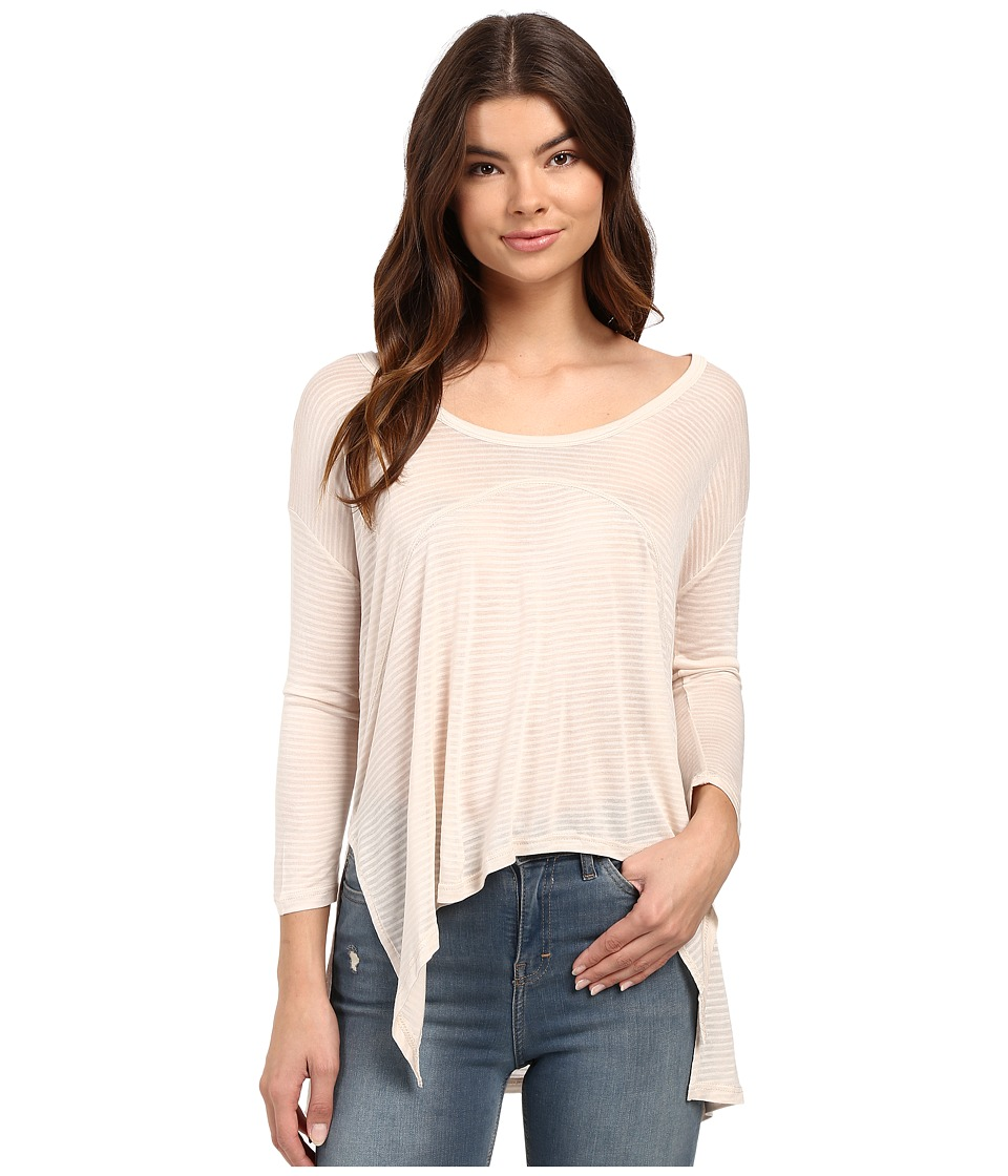 Culture Phit - Manon Long Sleeve Hankerchief Tee (Taupe) Women