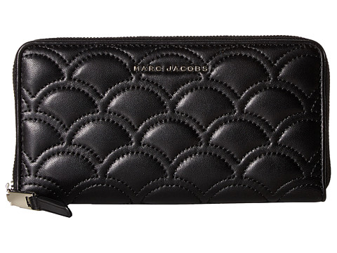 Marc Jacobs Matelasse Standard Continental Wallet - Black