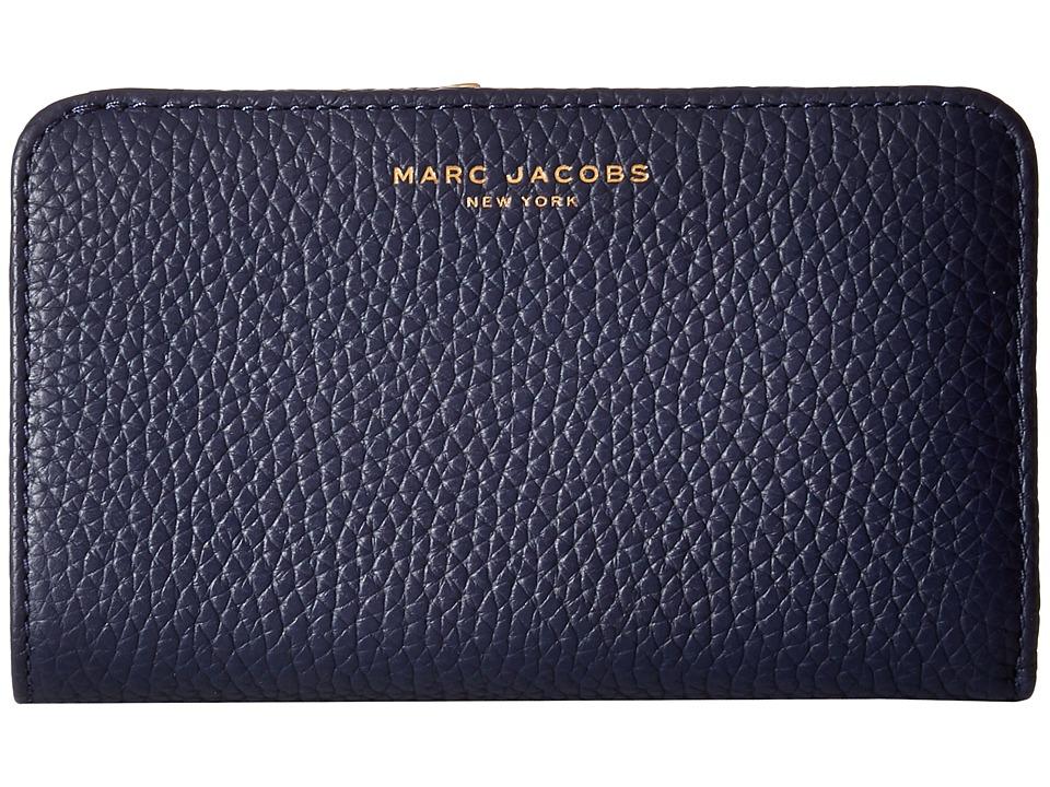 Marc Jacobs - Gotham Compact Wallet (Midnight Blue) Wallet Handbags