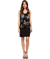 Karen Kane - Floral Drape Front Dress