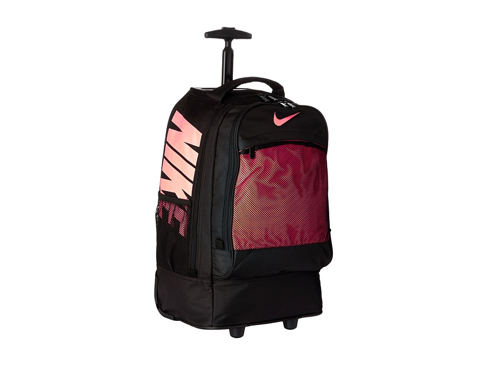 Nike Kids - Rolling Backpack (Black/Hot Lava) Backpack Bags