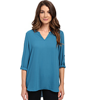 Karen Kane - Roll Tab Shirttail Top