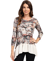 Karen Kane - 3/4 Sleeve Sheer Hem Top